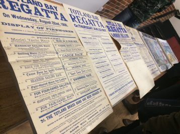 A selection of historic Totland Bay Regatta posters