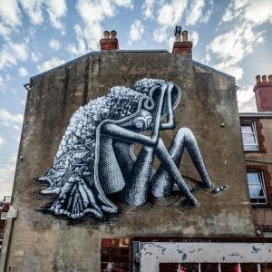 Ventnor Giant Mural by the artist Phlegm